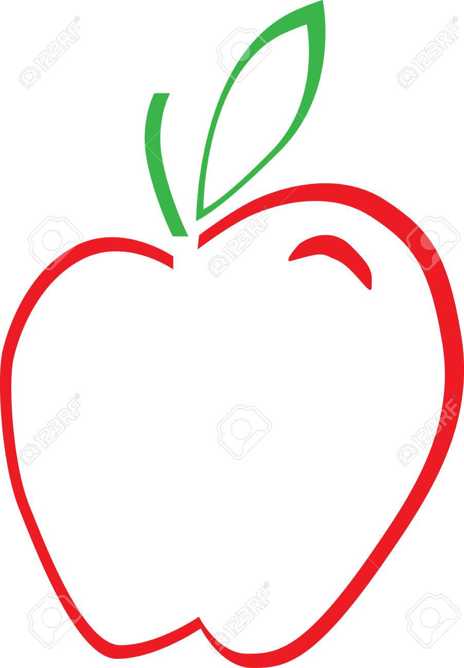 Apple outline free download best apple outline on clipartmag 902x1300 apple outline royalty free cliparts vectors and stock buycottarizona