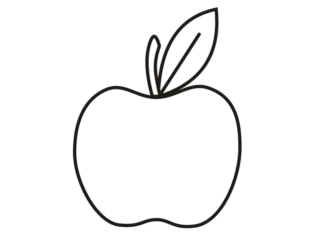 picture regarding Printable Apple Template named Apple Define No cost obtain simplest Apple Determine upon