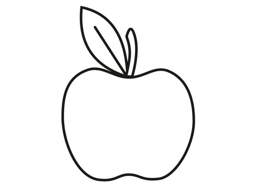 878x659 Printable Apple Coloring Pages Me For Page Of 94 Enchanting