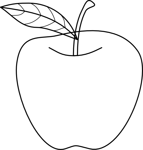 570x599 Apple Outline Clip Art