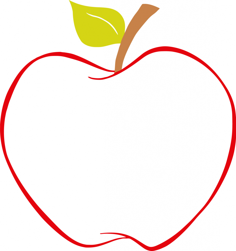 963x1024 Apple Outline Picture Apple Outline Clipart Clipart Kid