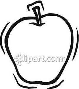 267x300 Apple Clipart Simple