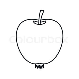 320x320 Character Apples And Poster, Outline Stock Vector Colourbox