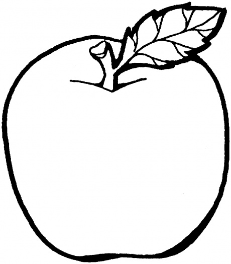 460x525 Flower Outlines For Coloring Apple 2 Coloring Page Super