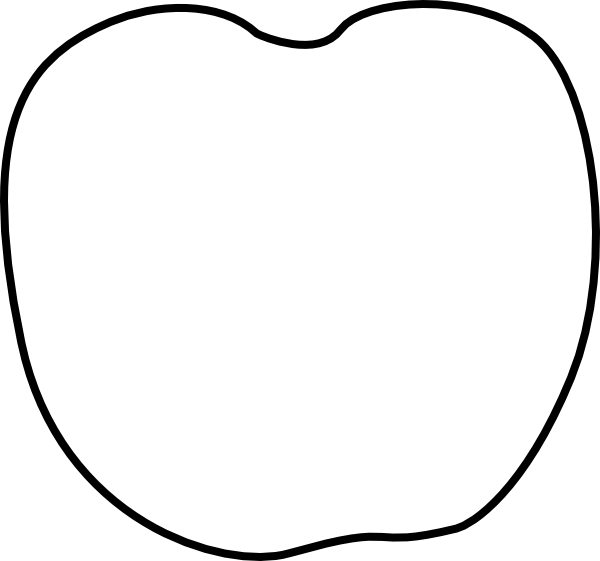 600x561 Plain White Apple Clip Art