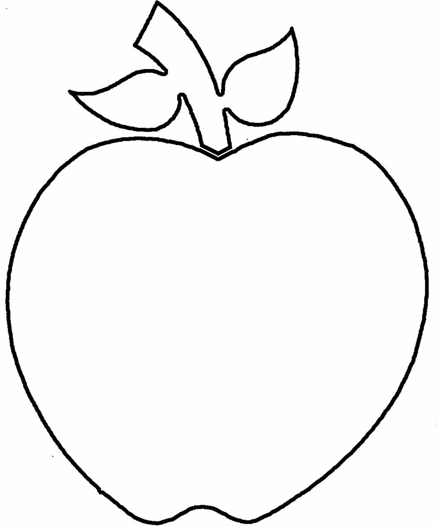 1494x1800 Apple Outline Clip Art