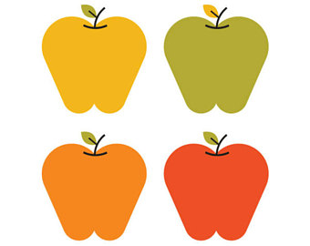 340x270 Apple Picking Clipart Set Apples Fall Apple Picking Apple