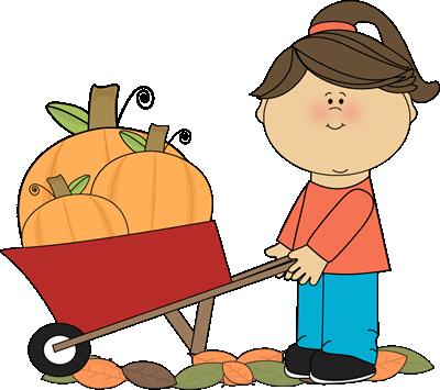400x355 Cart Clipart Pumpkin Picking