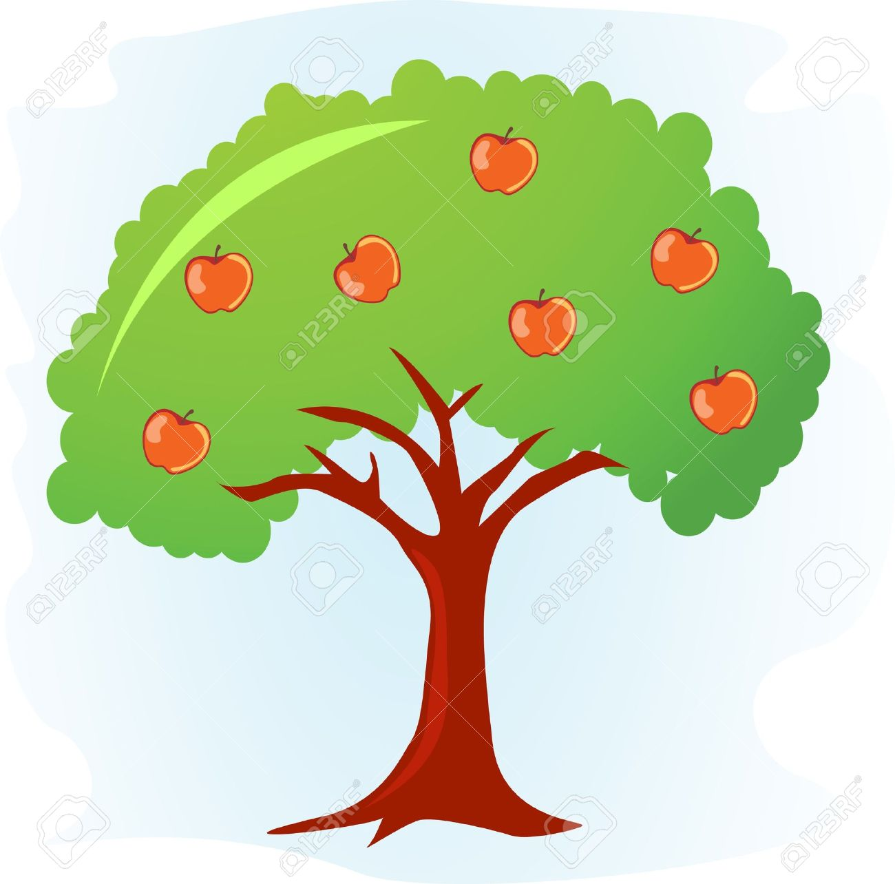 1300x1284 18,652 Apple Tree Stock Illustrations, Cliparts And Royalty Free