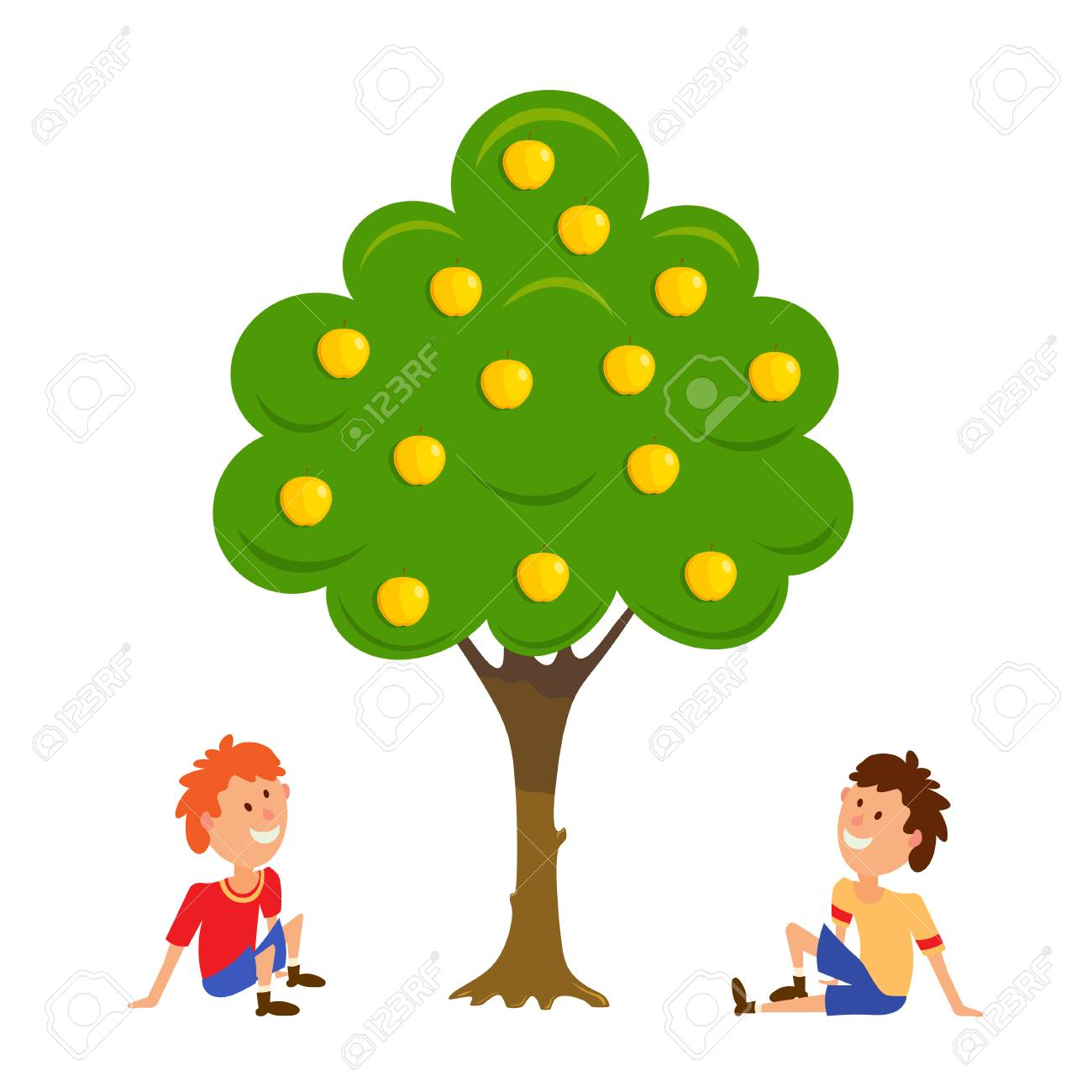 1300x1300 336 Picking Apples Stock Illustrations, Cliparts And Royalty Free
