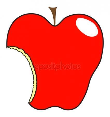 425x450 Apple Eaten Stock Vectors Royalty Free Illustrations