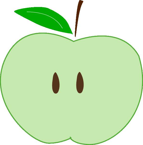 594x600 Green Apple Slice Clip Art