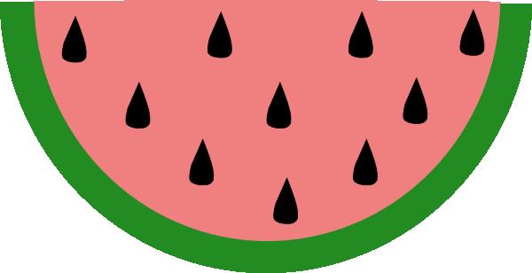 600x308 Slice Of Watermelon Clip Art