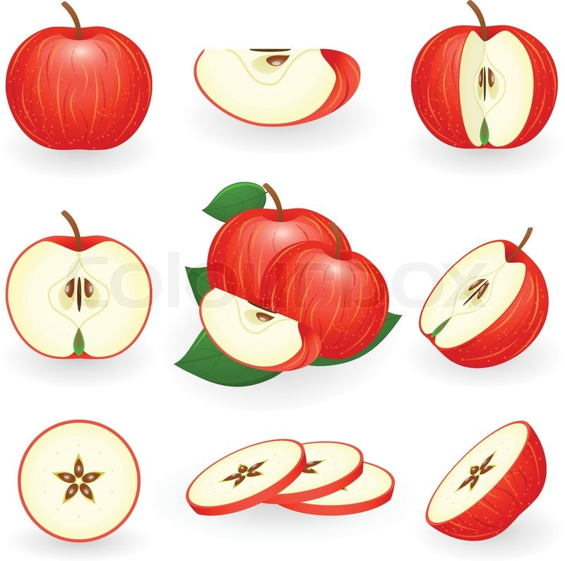 800x794 Vector Illustration Of Red Apple Stock Vector Colourbox