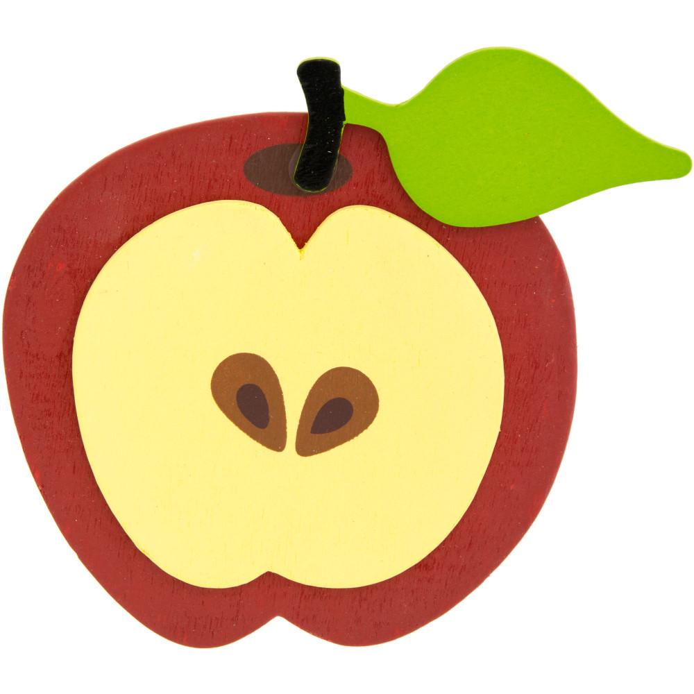 1000x1000 5 Painted Wooden Shape Apple Slice [9199 49]