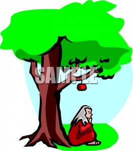264x300 Art Image Sir Isaac Newton Sitting Under An Apple Tree