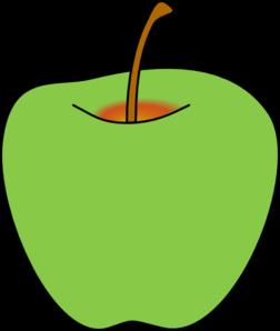 252x298 Green Apple Clip Art