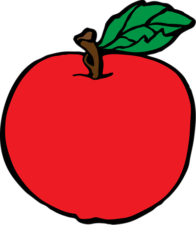 400x459 Apple Clip Art Inderecami Drawing