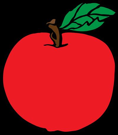 400x459 Apple Clip Art Inderecami Drawing