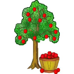300x300 Red Apple Tree Clip Art Image Clipart Panda