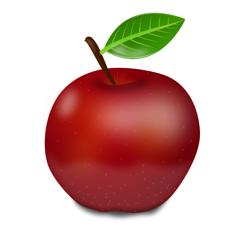 800x800 Red apple clip art 5
