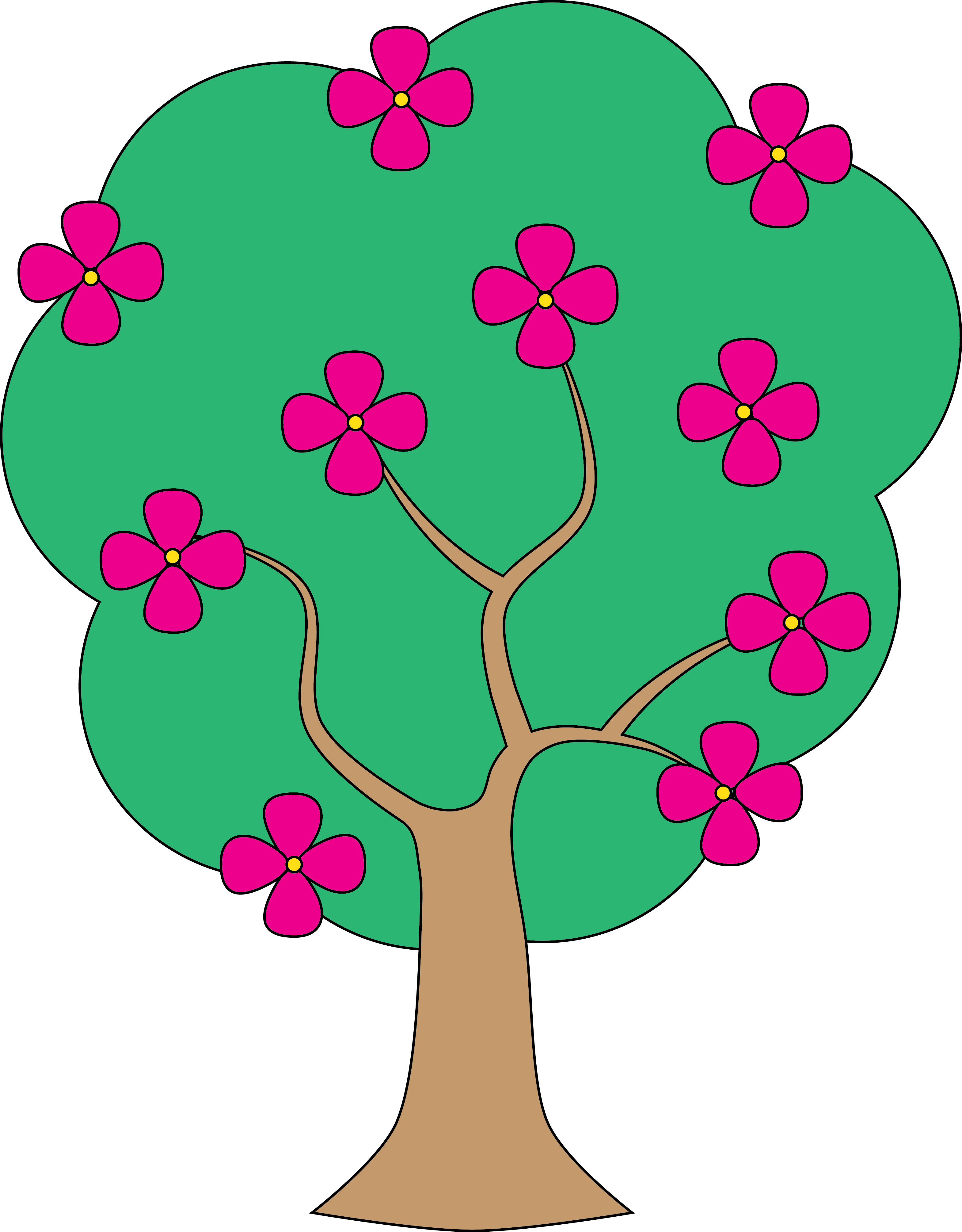 3139x4019 Tree clipart apple blossom