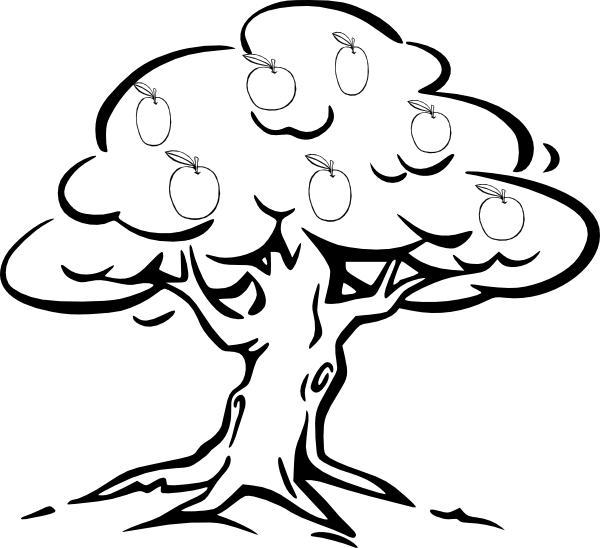 600x548 Apple Tree Clip Art