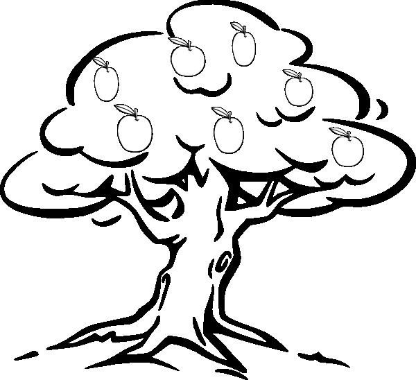 600x548 Apple Tree Clip Art