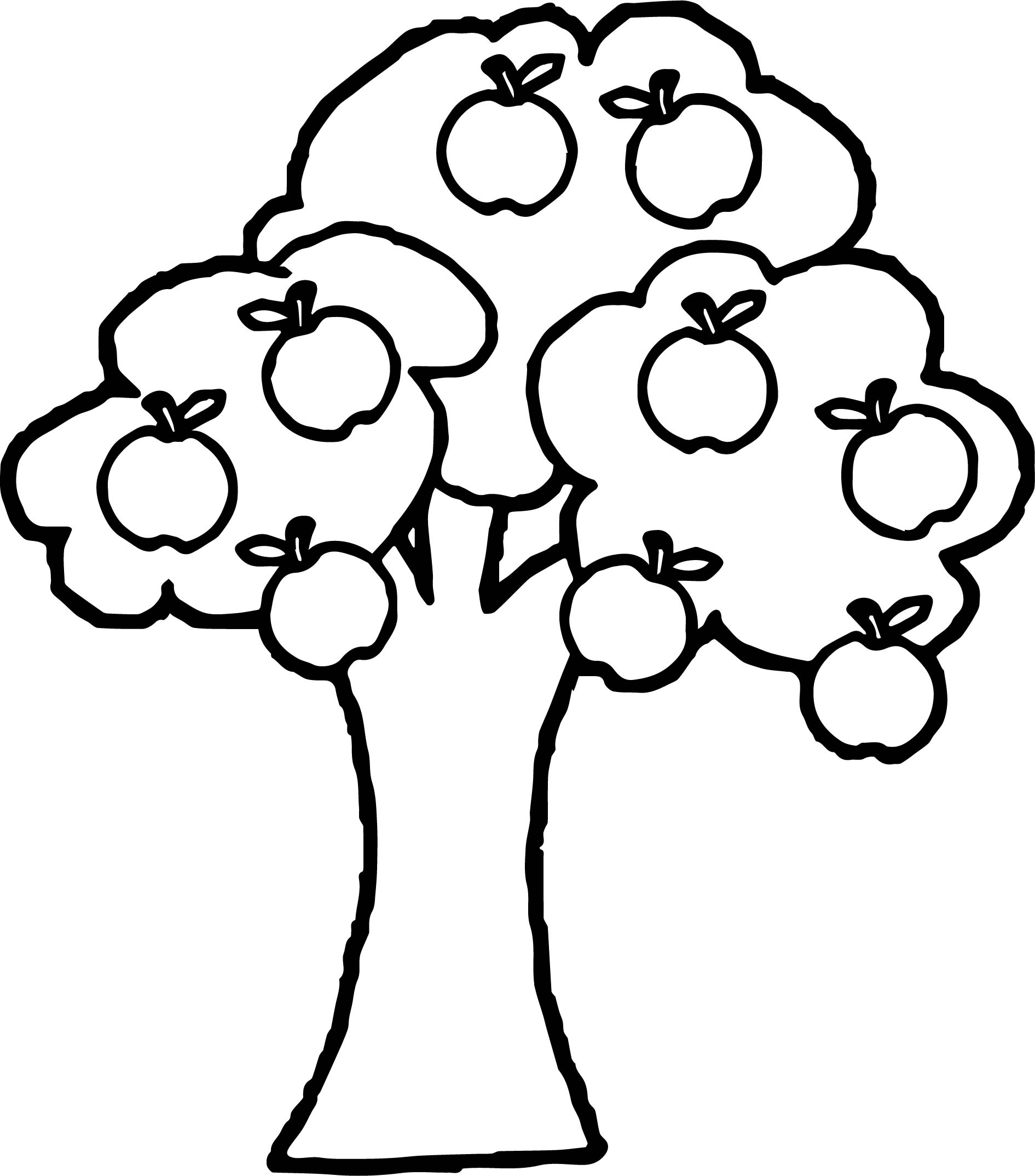 apple tree coloring pages - photo#15