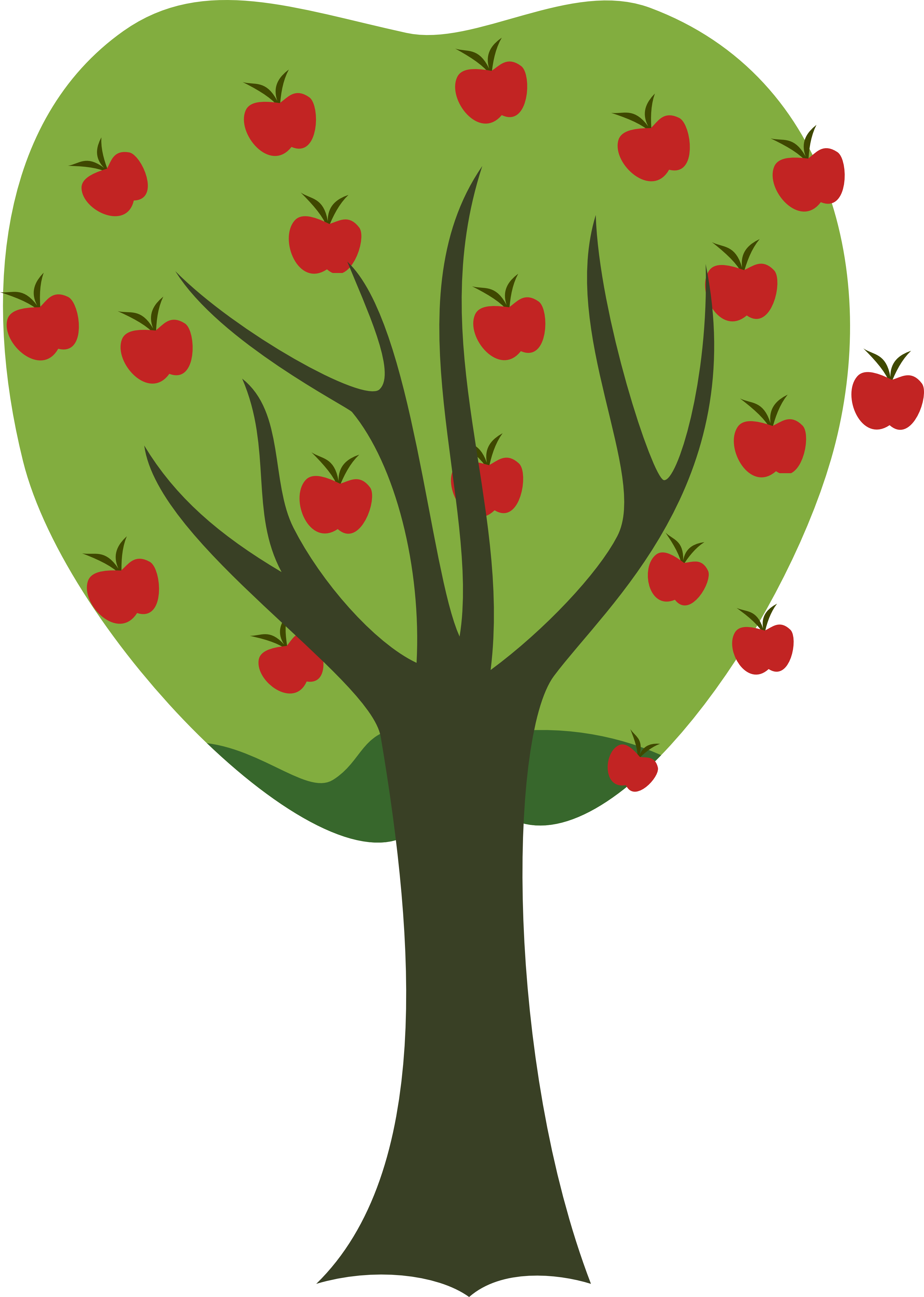 Apple Tree Drawing | Free download best Apple Tree Drawing on ...