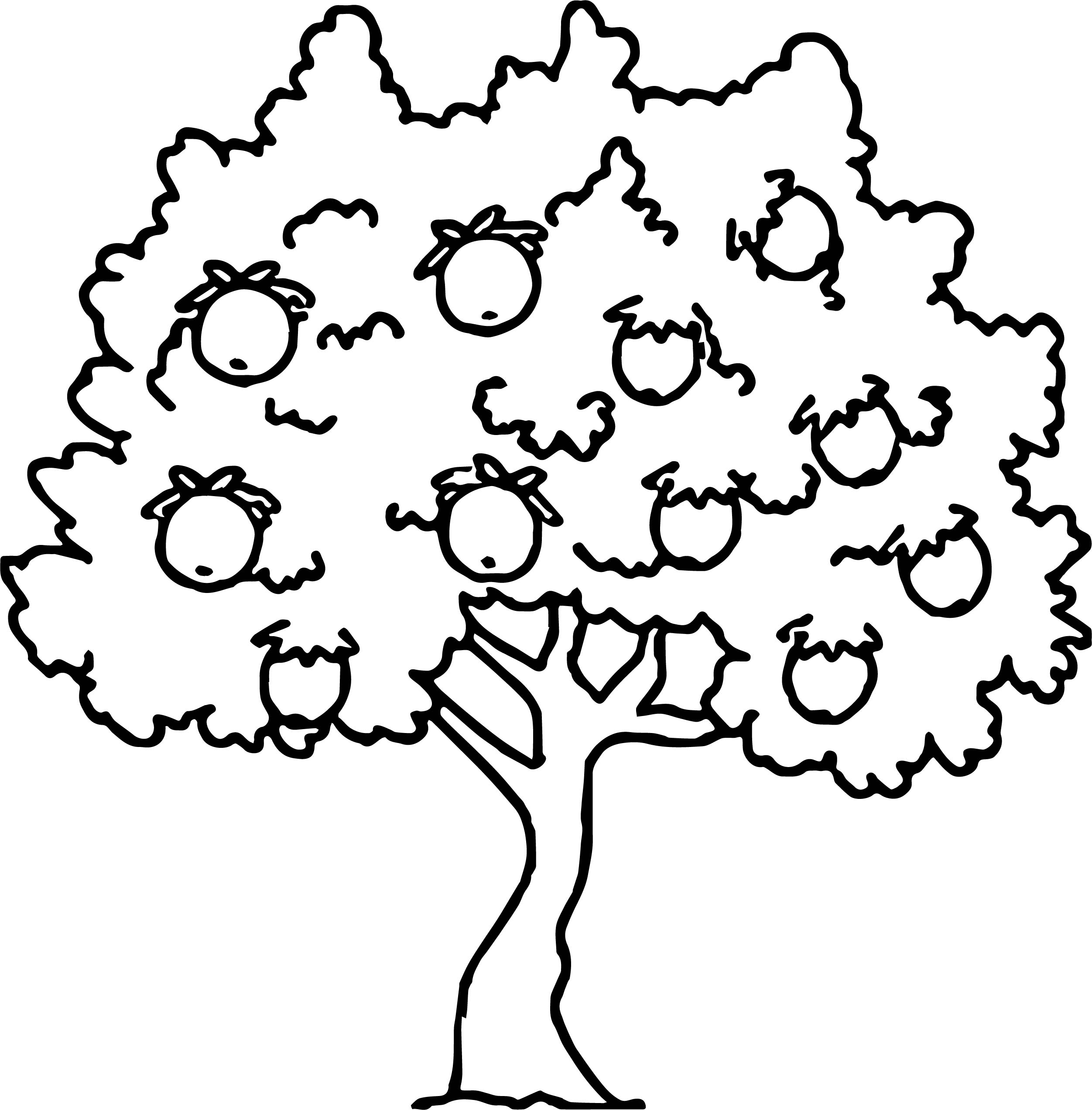 Apple Tree Drawing Free download