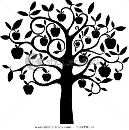 450x454 Cool Apple Tree Graphic Andy's Cider Tree Graphic