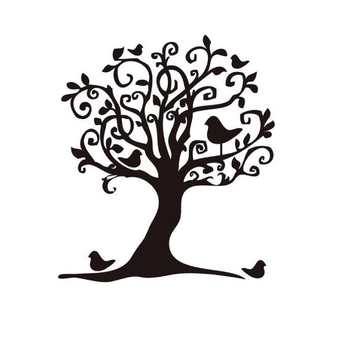 Apple Tree Silhouette Clipart