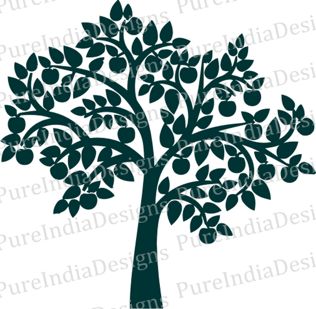1200x1173 Apple Tree Svg Tree Wall Decal Tree Digital File Family