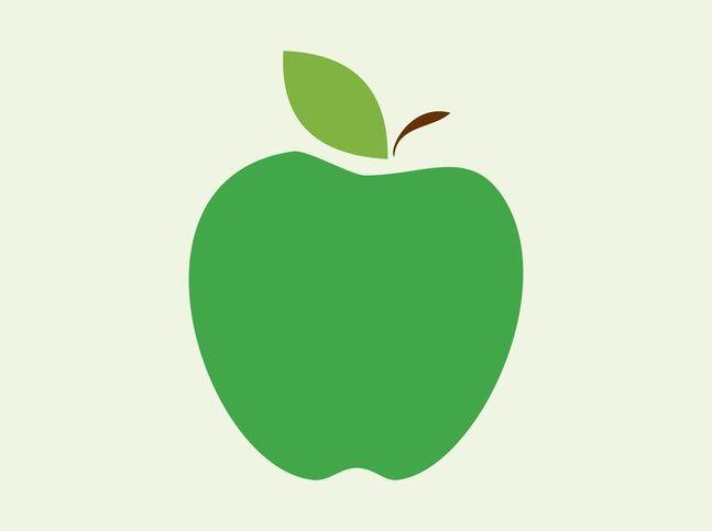 647x483 Best Apple Vector Ideas Triangle Vector, Apple
