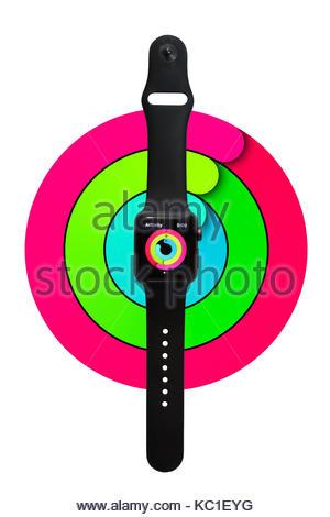 300x470 Apple Watch White, Sport, Smartwatch Shown Top Down On