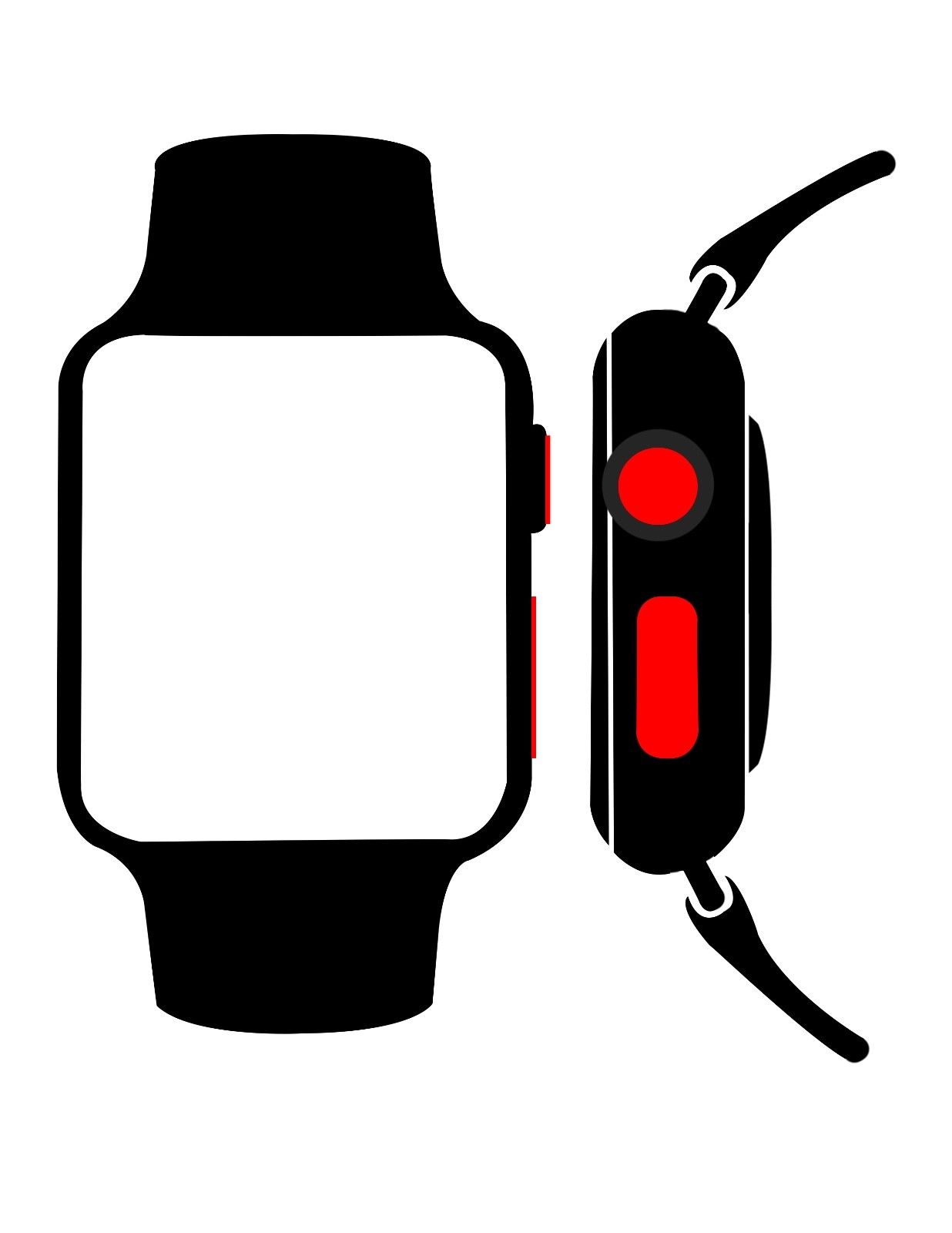 1236x1600 Of 2 Red Dot Lte Style For Apple Watch 38mm 42mm Series 0,1,2,3,