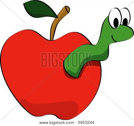 Apple Worm Clipart