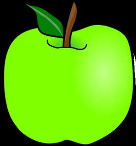 276x297 Green Delicious Apple Clip Art