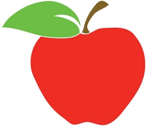 300x259 Red Apple Clipart Image