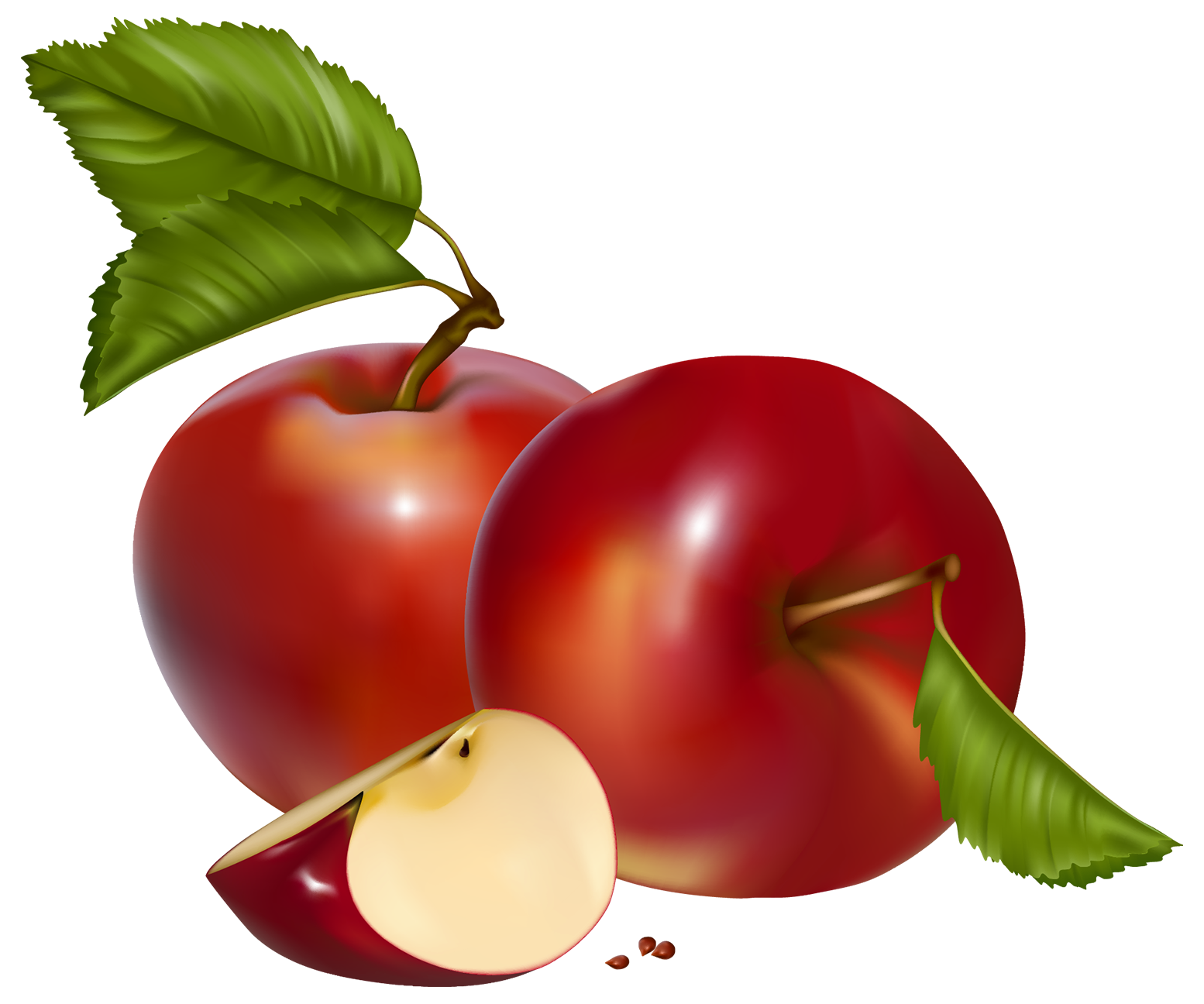 1554x1296 Red Apples Png Clipart