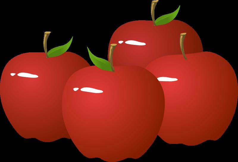 800x545 Four Apple Clip Art