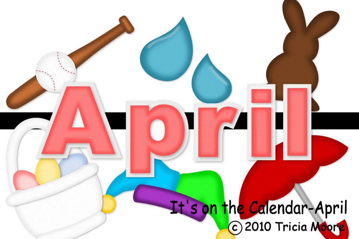 1200x800 April Calendar Clipart