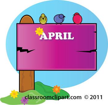 350x341 April Showers Calendar Clipart