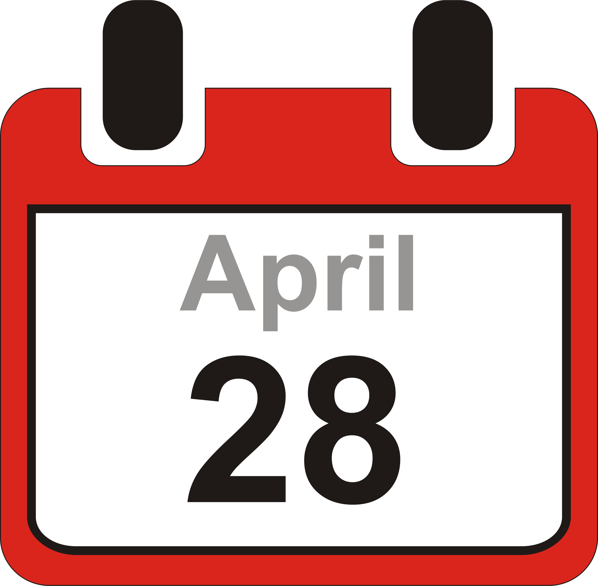 2400x2354 Free Clip Art Calendar Clipart Image 9