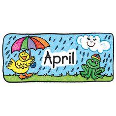 236x236 April Borders Clip Art Calendar Set Kid Drawn Bulletin Board