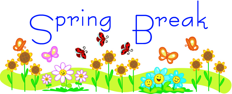 800x324 School Spring Break Clip Art 8