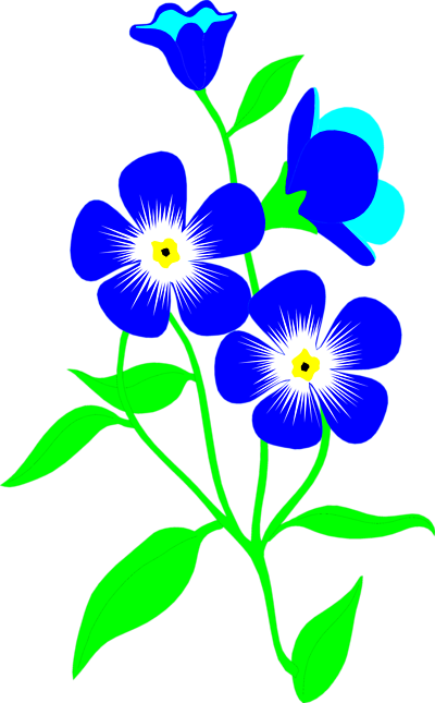 400x645 April Flowers Clip Art Clipart