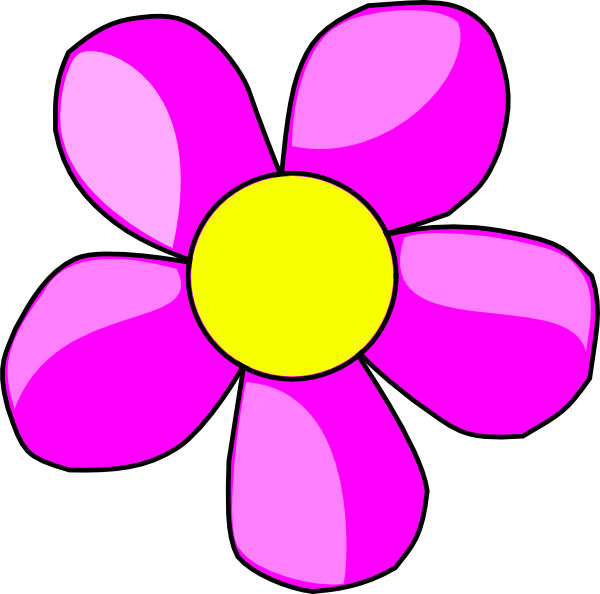600x594 April Flowers Clips Flowers Clip Art