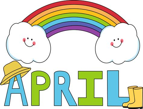 474x361 Free Month Clip Art Month Of April Rainbow Clip Art Image